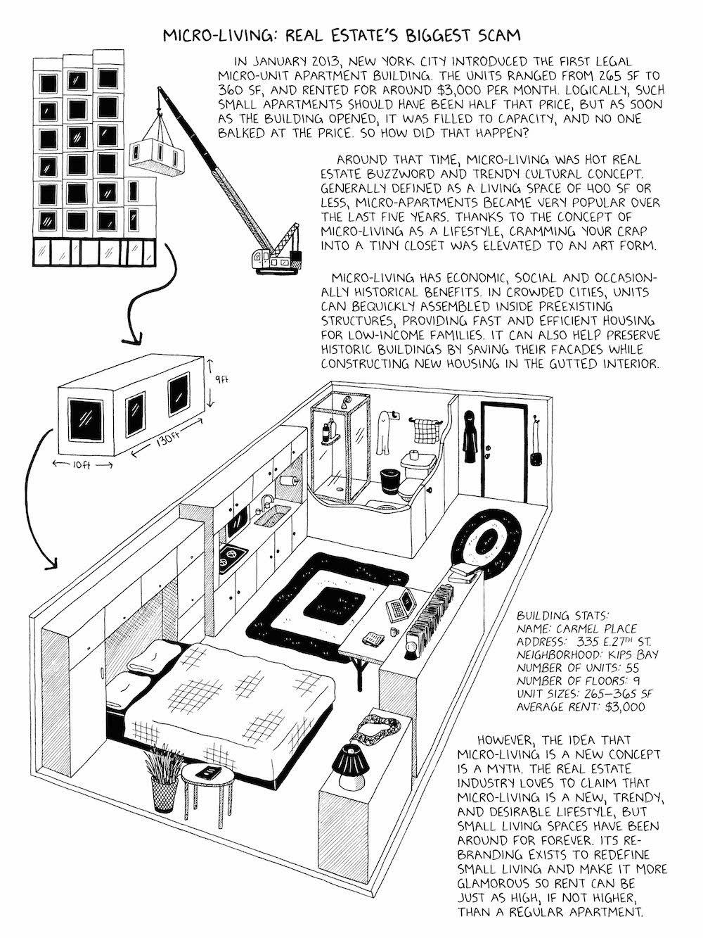 Tenements, Towers & Trash: excerpt from cartoonist Julia