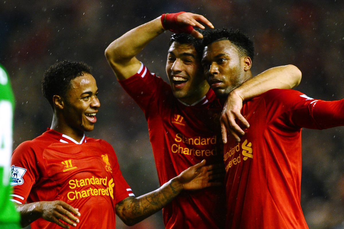 We have no photos that contain Sterling, Sturridge, AND Agger. This is as good as it gets.