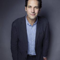 """This Aug. 21, 2012 photo shows Paul Rudd posing for a portrait at the Grace Hotel in New York. The 43-year-old star who has been on a goofy comedic tear lately with """"Our Idiot Brother,"""" """"Dinner for Schmucks,"""" """"Wanderlust"""" and TV's """"Parks and Recreation.""""  Now he is playing an evangelical Christian who basically unravels onstage in the play """"Grace,"""" which opens on Broadway on Oct. 4."""