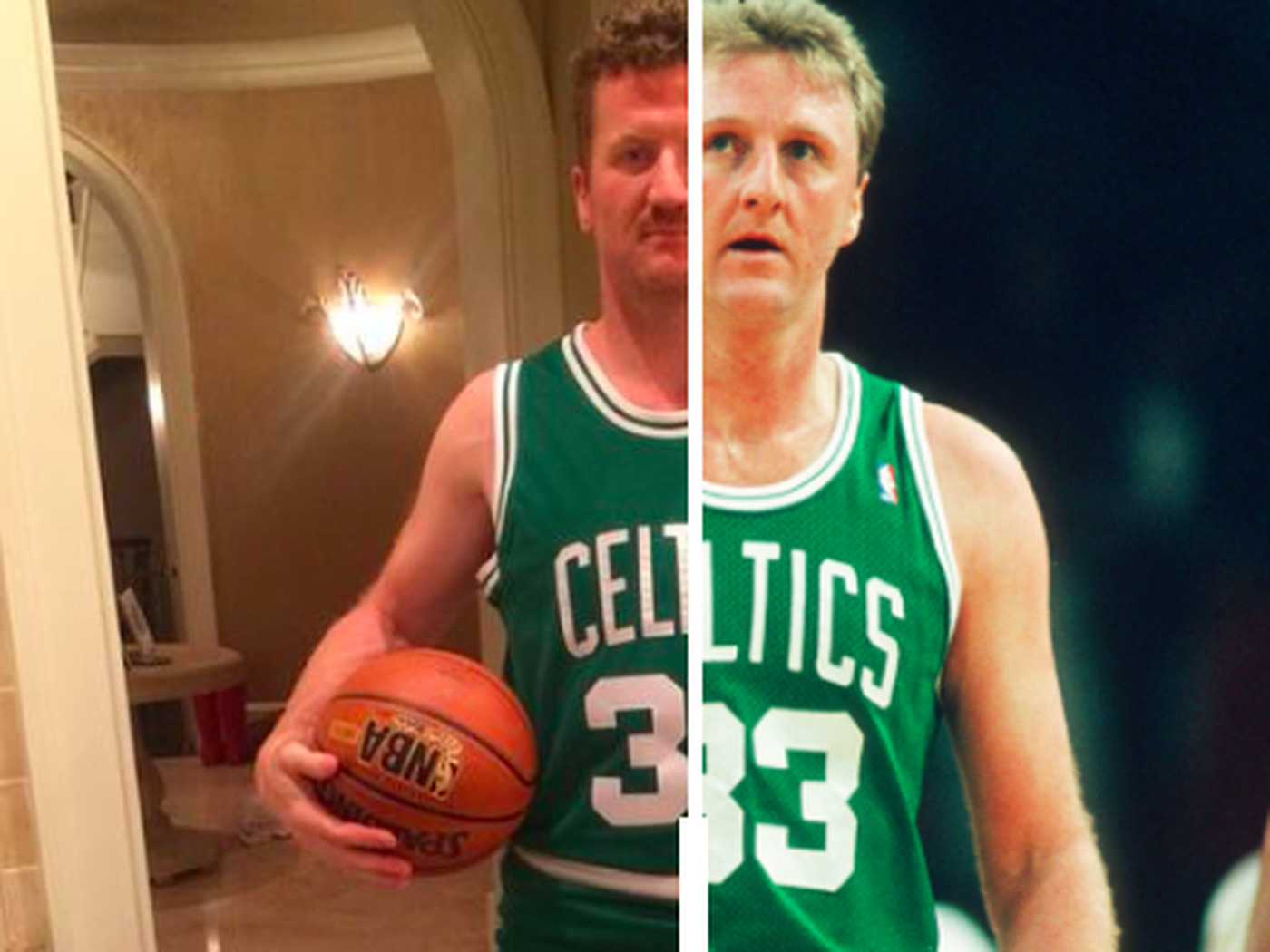 scott hartnell's larry bird halloween costume is insanely accurate