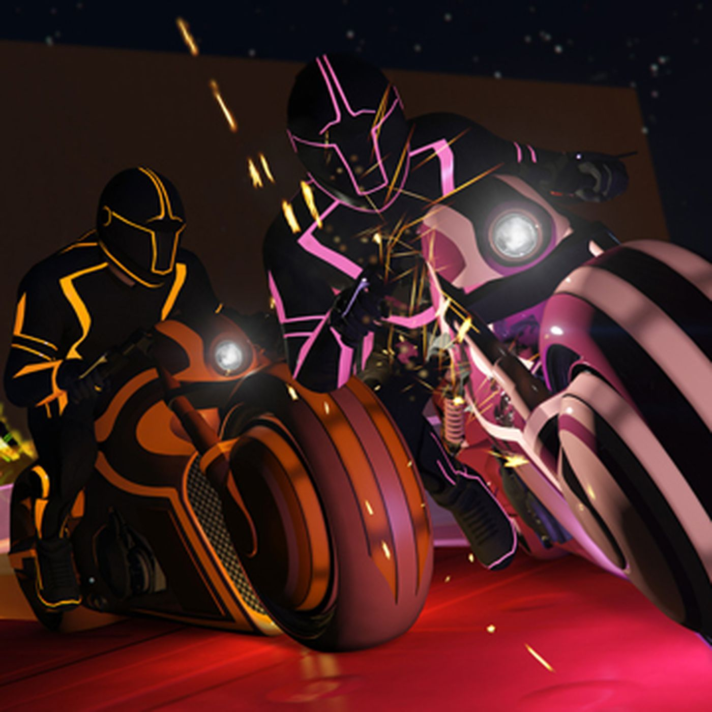 You can ride a Tron light cycle in GTA Online - The Verge