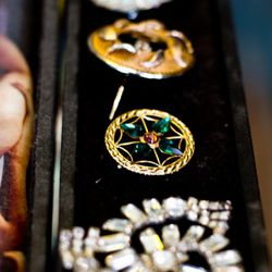 The owners sourced the jewelry from estate sales.