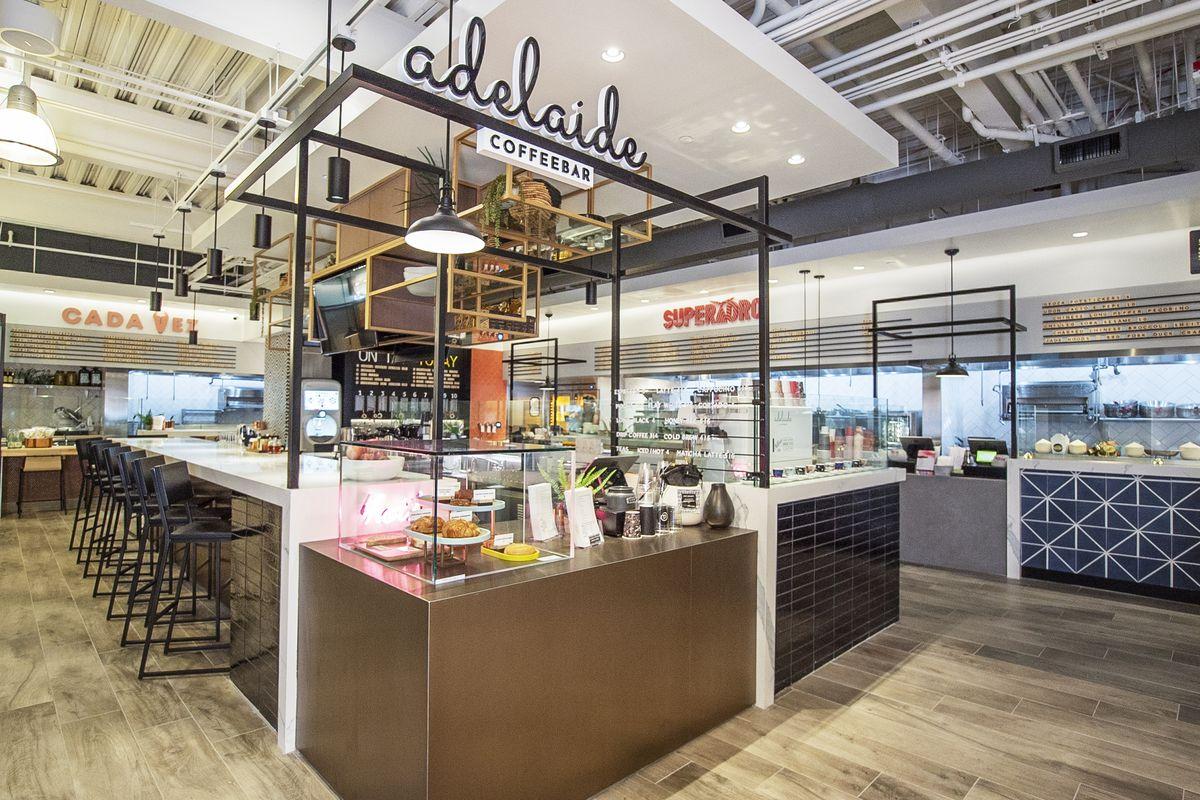 Inside of virtual food hall SocialEats Santa Monica