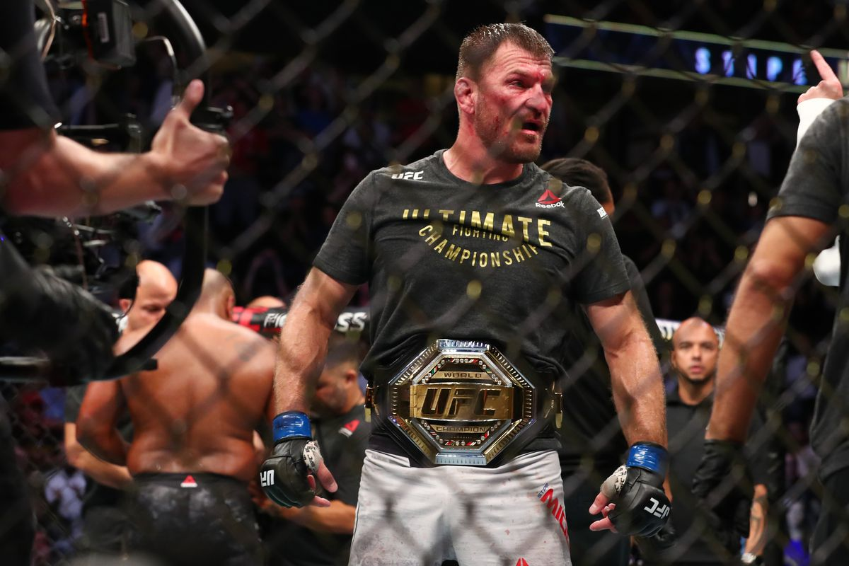 Stipe Miocic 'upset' with Colby Covington for 'saying stuff' to his wife after UFC 241