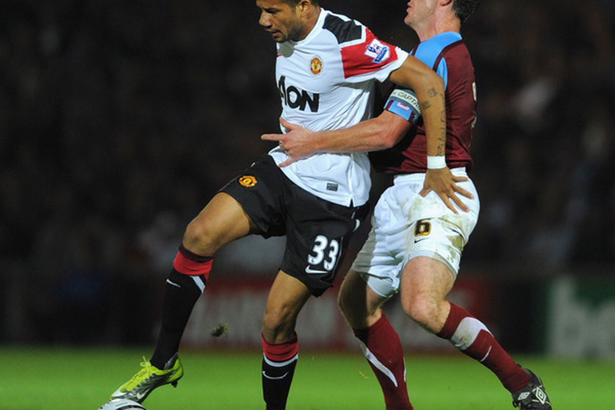This is the only photo I could find on Scunthorpe here (when they played Man U).