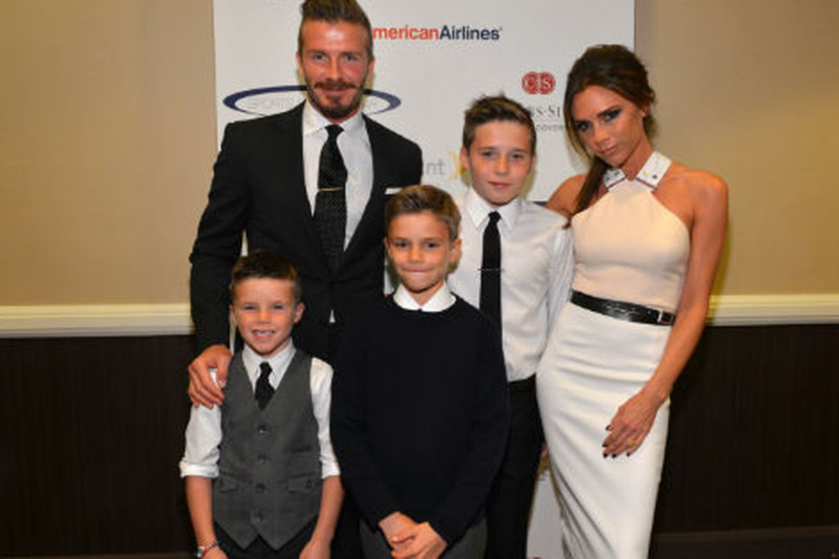 The Beckhams. Photo via Getty Images.