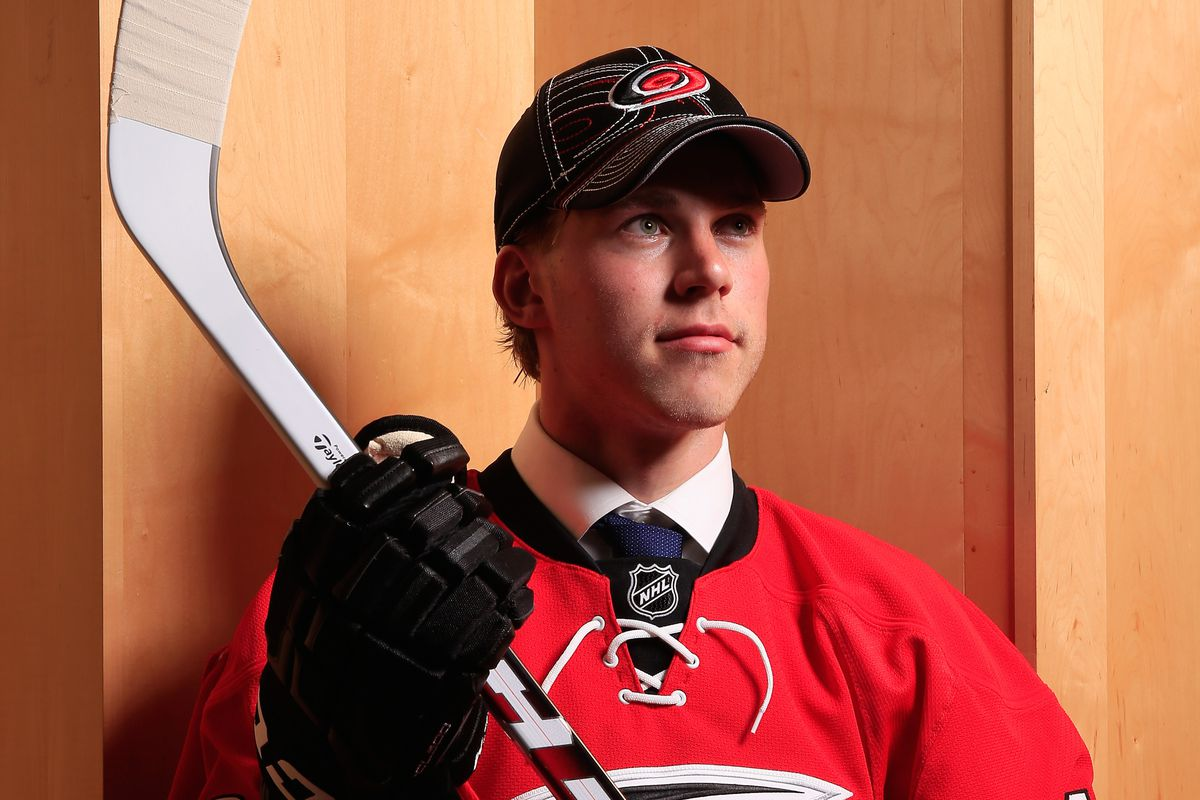 Elias Lindholm, the fifth overall pick in the 2013 NHL Draft, should be a contributor for the Hurricanes for years to come.