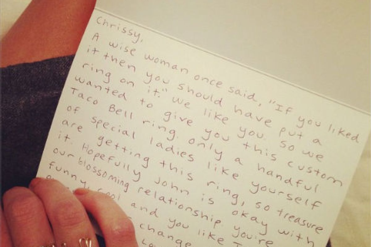 Taco Bell Targets B-List Models With Jewelry, Weird Love Notes - Racked