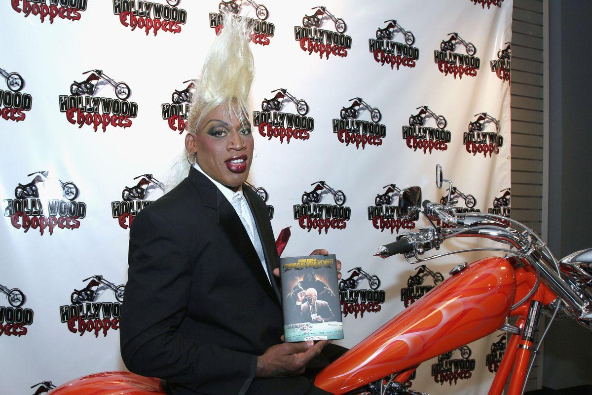 Dennis Rodman Book Signing At Seminole Hard Rock Hotel
