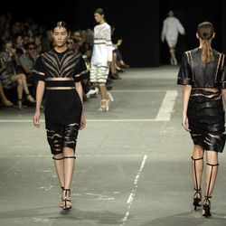 The Alexander Wang Spring 2013 collection is modeled during Fashion Week in New York,  Saturday, Sept. 8, 2012.