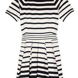 Variegated Stripe Knit Pleated Dress, <b>$125</b> (from $385)