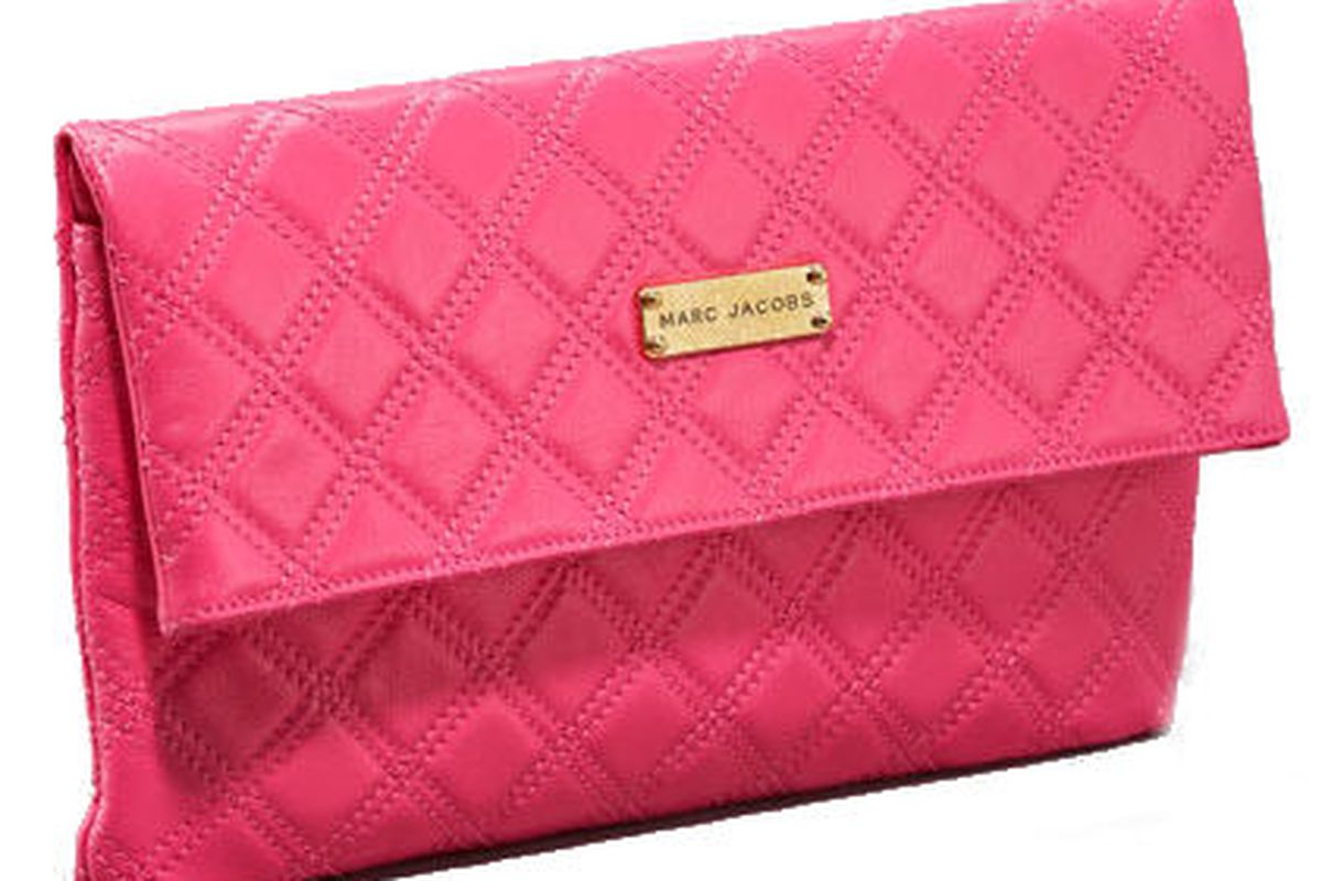 """Marc Jacobs Eugenie quilted leather clutch, <a href=""""http://www.neimanmarcus.com/product.jsp?isEditorial=false&amp;index=9&amp;masterId=cat41540738&amp;itemId=prod143000052&amp;cmCat=cat000000cat000001cat41020734cat41500763cat41540738cat41540742&amp"""