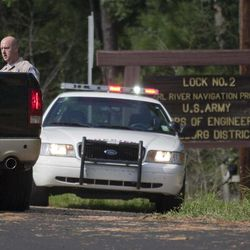 An evacuation was ordered after Lock 2 became in danger of failing Saturday, September 1, 2012, on the Pearl River navigational canal, in St. Tammy Parish, La.