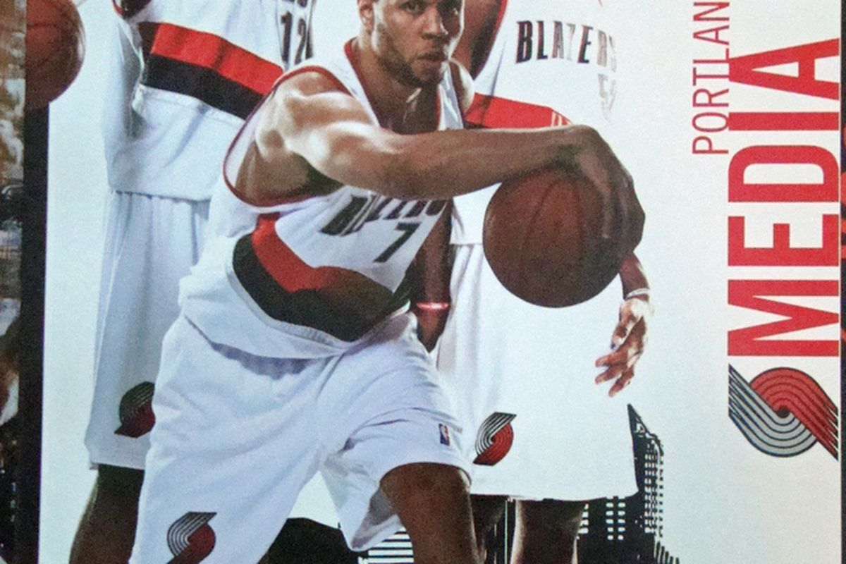 The cover of the 2010 Portland Trail Blazers Media Guide.