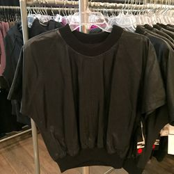Black leather top, $250 (was $1,095)