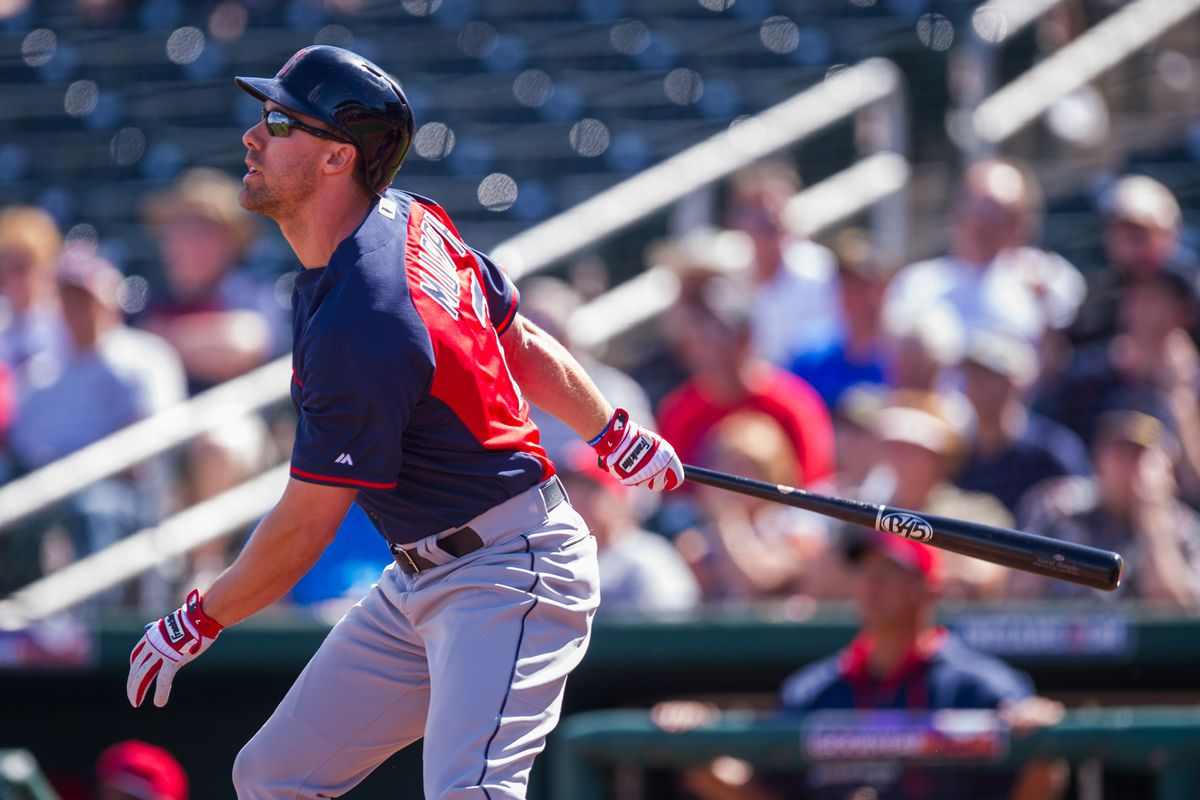David Murphy against the Reds earlier in spring training