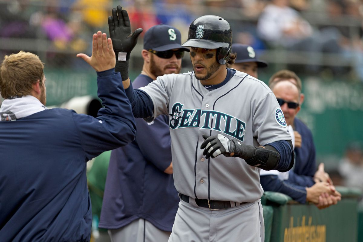 Michael Morse leads all of baseball in home runs.