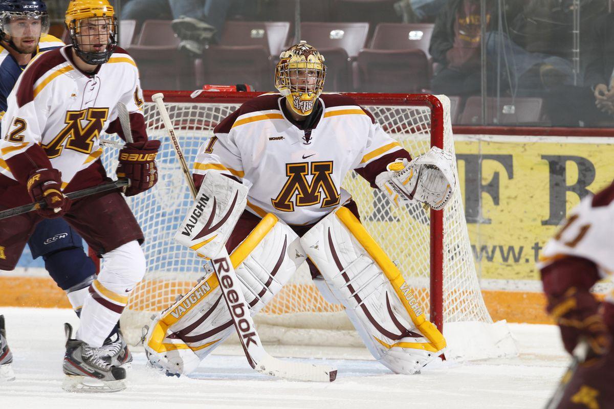 University of Minnesota goaltender Michael Shibrowski