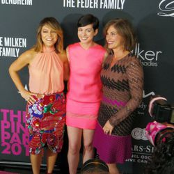 Elyse Walker, Anne Hathaway and Dr. Beth Y. Karlan at the ninth annual Pink Party in Santa Monica.