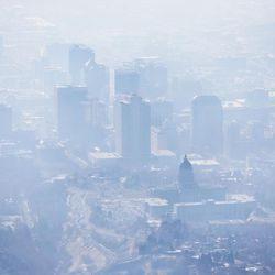 FILE: Smog covers Salt Lake City as an inversion lingers on Wednesday, Jan. 18, 2017.