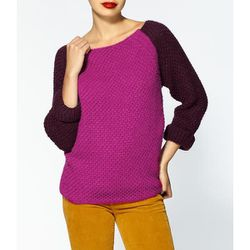 """<b>Dex</b> Raglan Color Block Sweater in fushia tonal, <a href=""""http://piperlime.gap.com/browse/product.do?cid=64458&vid=1&pid=377782012"""">$79</a> at Piperlime"""