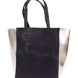 """God Save LA black metallic tote bag, $68 at <a href=""""http://www.shopkitson.com/index.php?page=product&id=23679"""">Kitson</a>"""