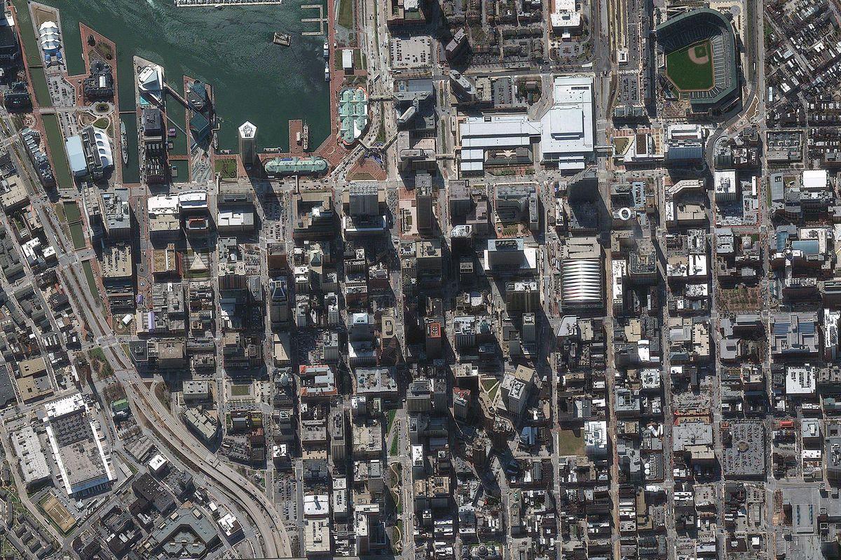 Satellite Image of Baltimore, Maryland, United States