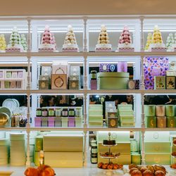 """<b>↑</b> Starting to feel like it's snack time? You're in the right 'hood. Complement your day of designer shopping by grazing (or feasting) on fashion's favorite sweet and swing by <b><a href=""""https://www.laduree.com/en_int/"""">Laduree</a></b> (398 West Br"""