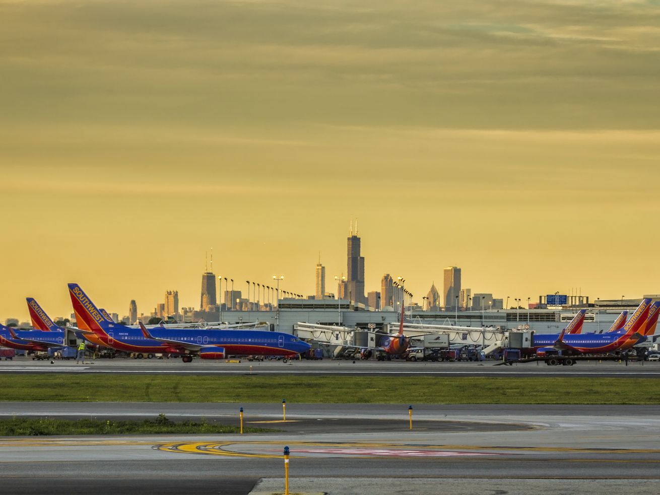 The view from Midway airport