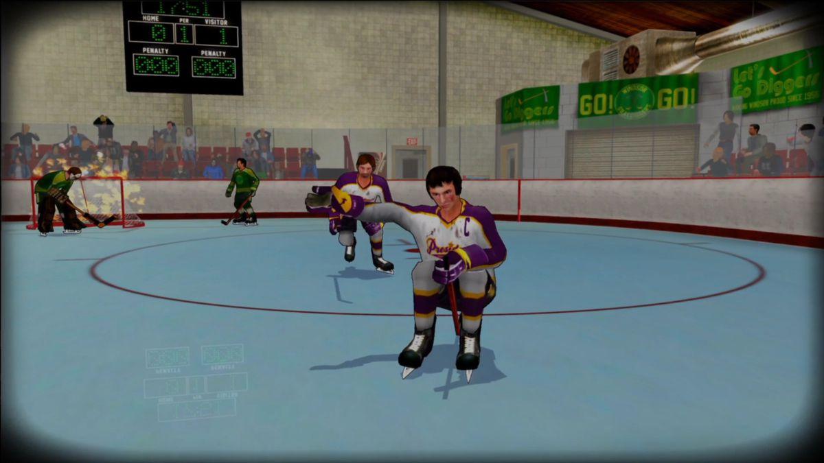 Old Time Hockey - goal celebration