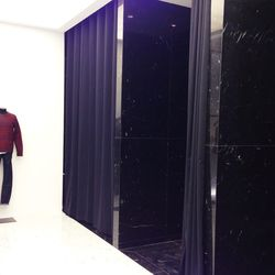 Even the dressing rooms are stylish.