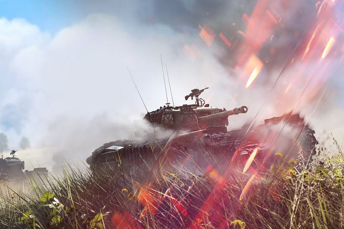 battlefield 5 tank in action