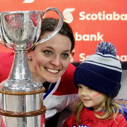 Katia Clement-Heydra and Les Canadiennes' smallest big fan