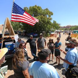 Interior Secretary Sally Jewell visits Canyon Country in southern Utah on Saturday, July 16, 2016.