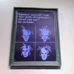 """Andy Warhol wants you to """"espress"""" yourself."""