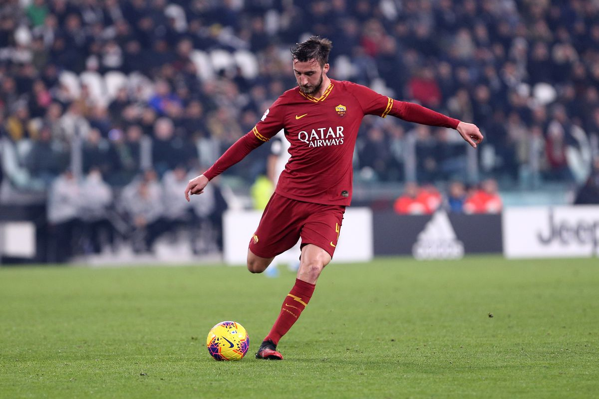 Bryan Cristante of As Roma in action during the Coppa...