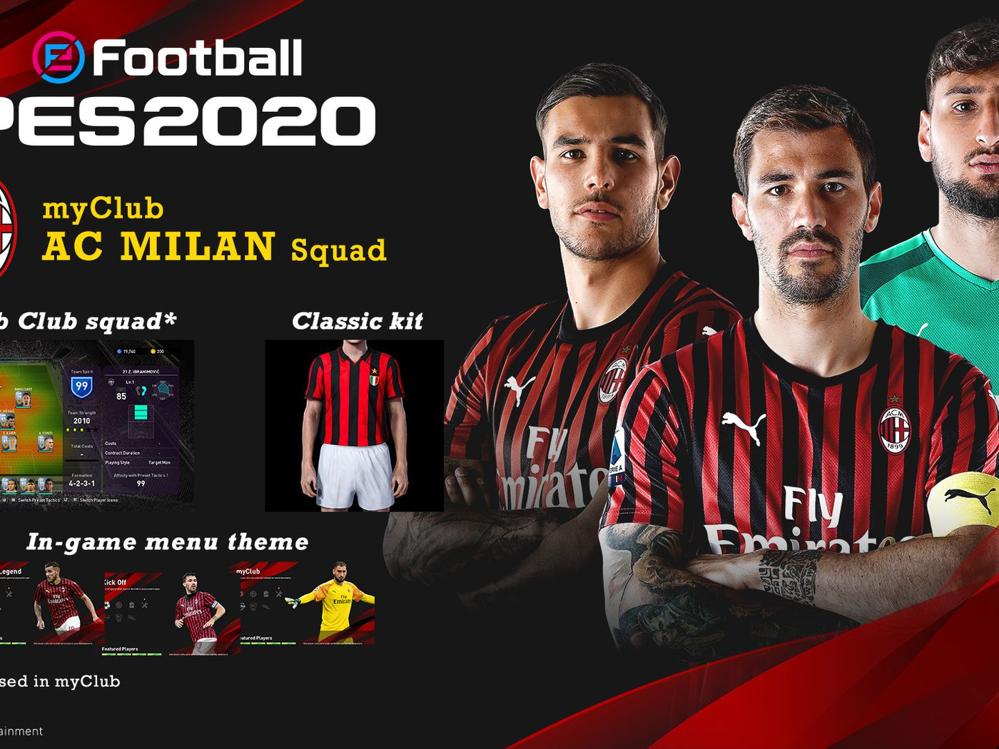 Rossoneri Round Up For Jul 9 Konami Partnership With Ac Milan For Efootball Pes Ends The Ac Milan Offside