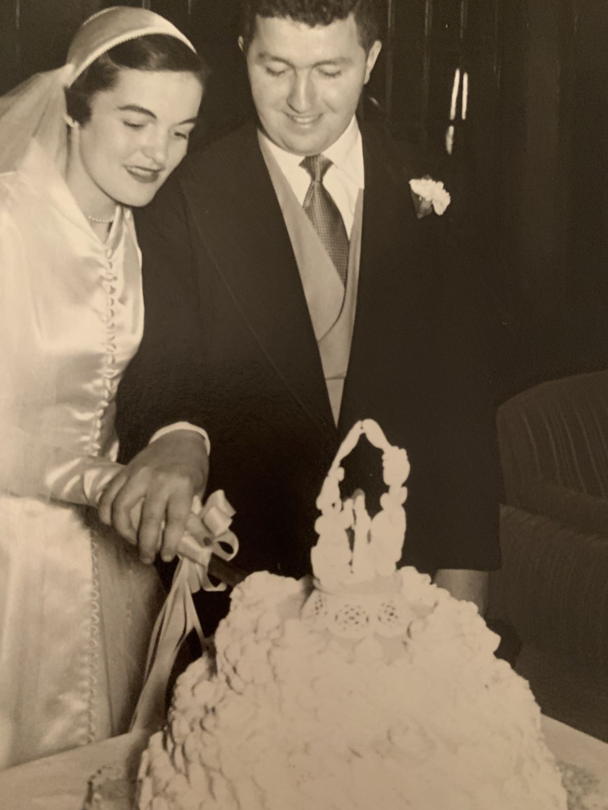 Mille and Ted Cronin at their wedding.