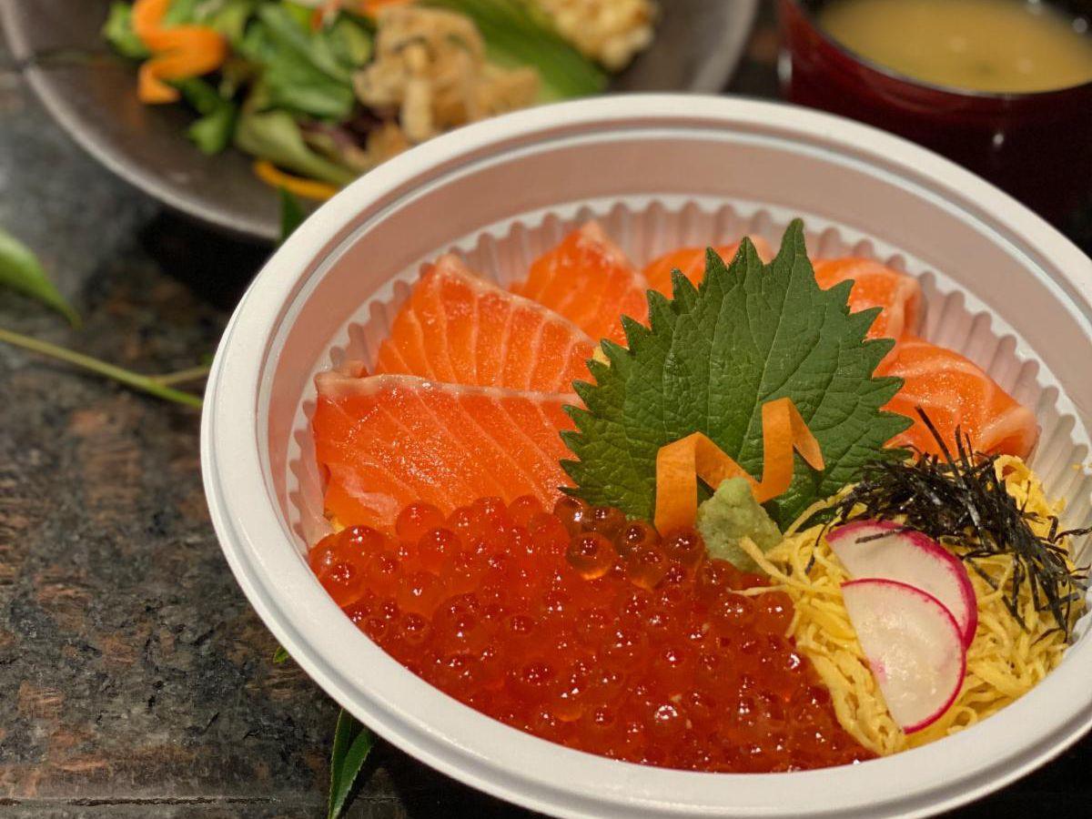 Salmon Ikura Don at Raku