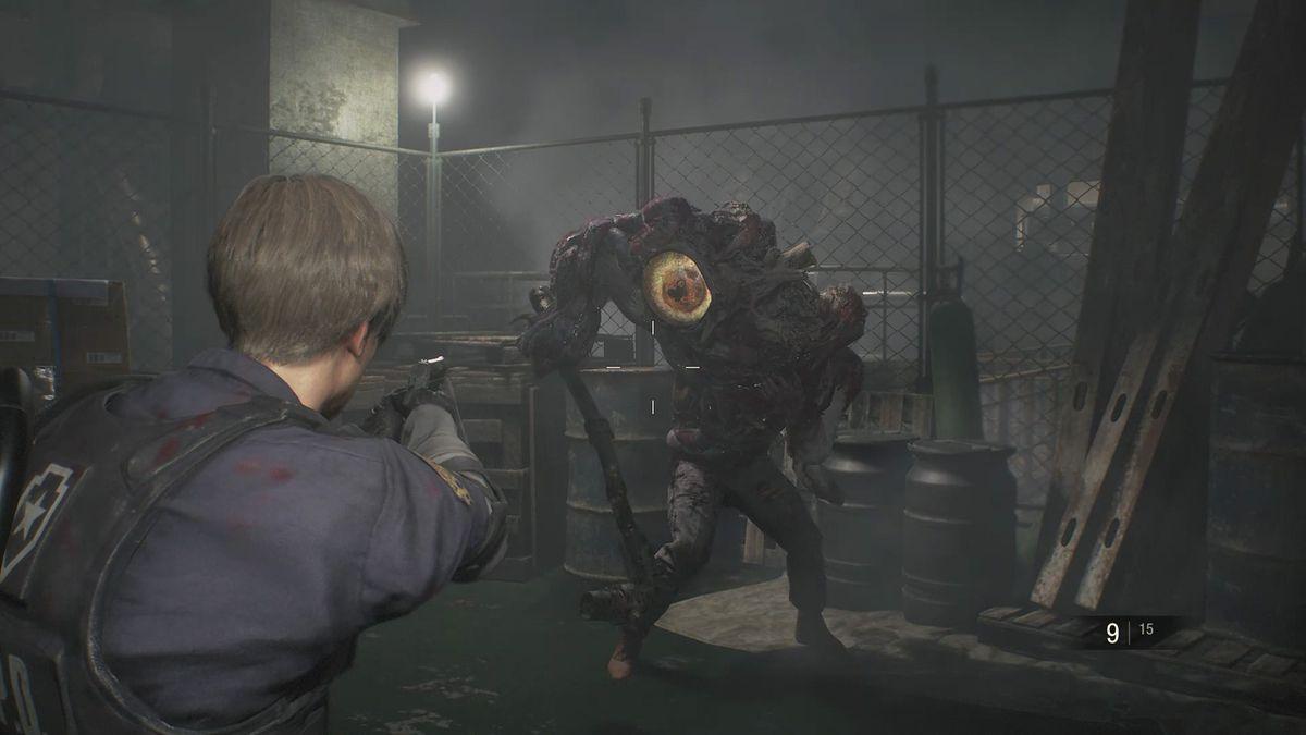 Resident Evil 2 Machinery Room boss fight walkthrough - Polygon