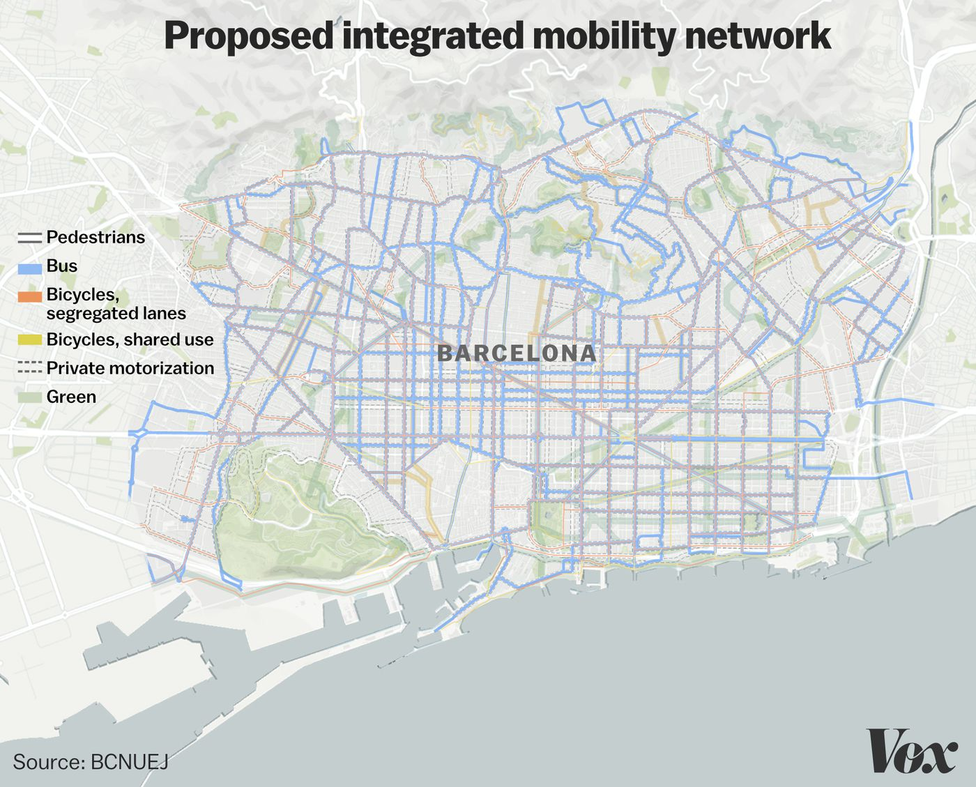 Barcelona, Spain's urban plan to build superblocks: the 2 biggest
