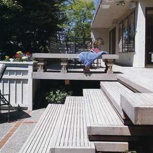 A Wood Deck With Semitransparent Finish