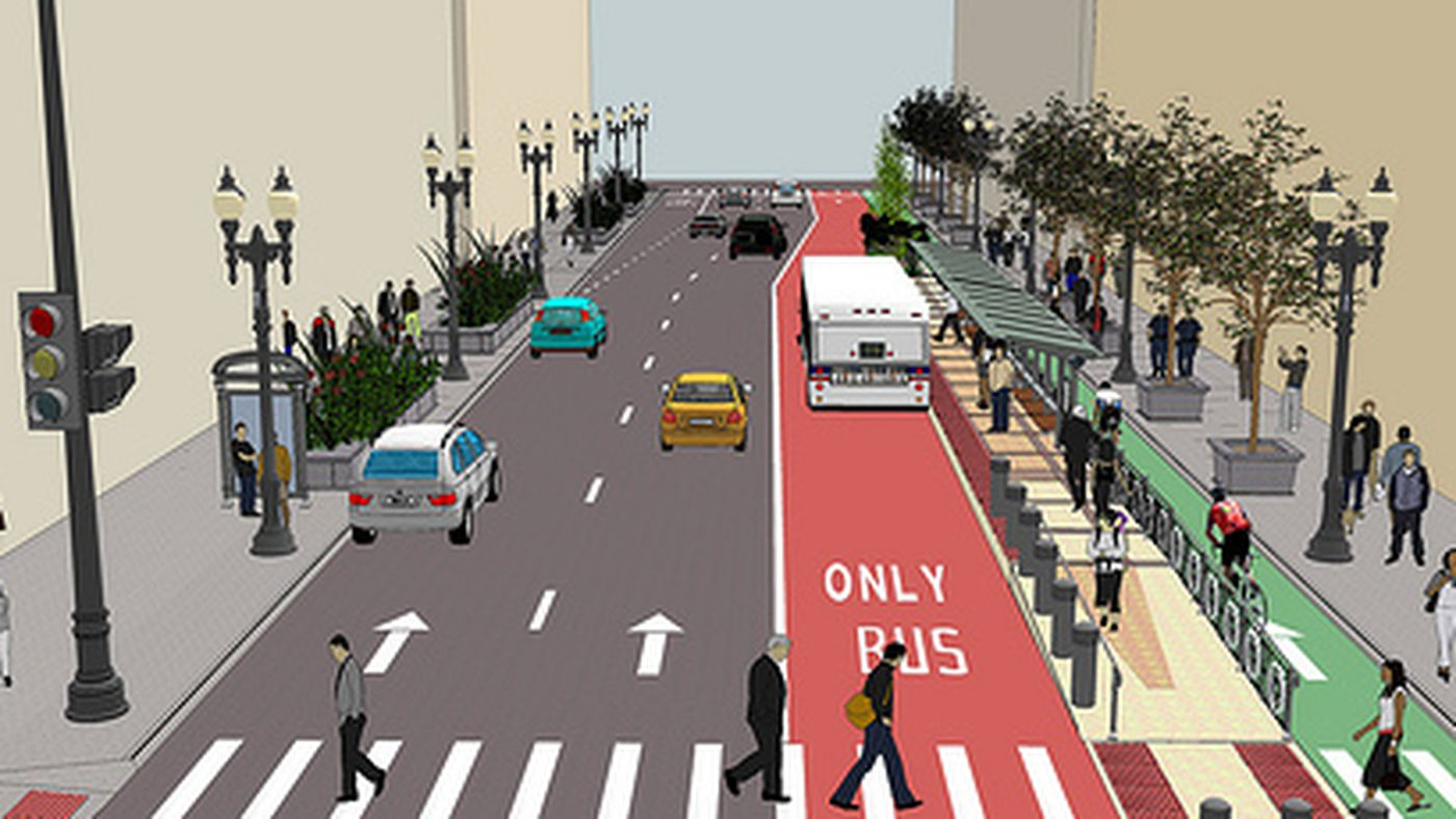 City Paints Picture Of Central Loop Brt Corridor Curbed Chicago