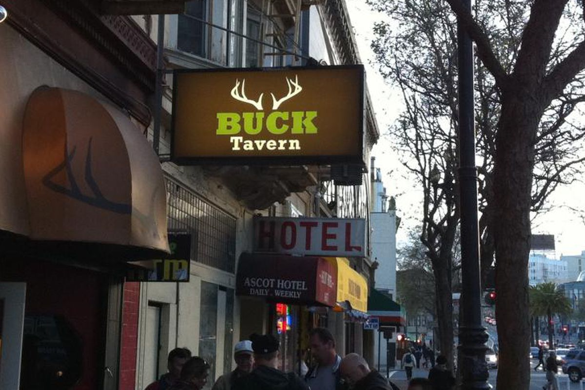 The dearly departed Buck Tavern.