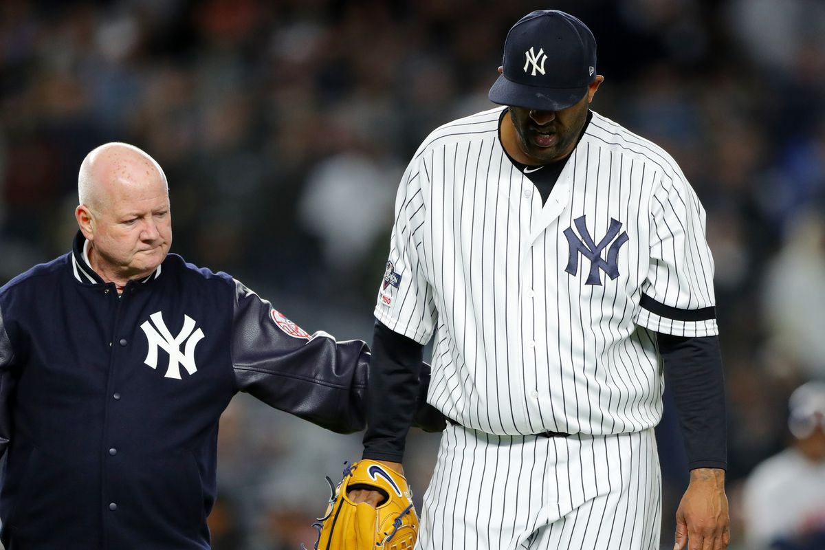 CC Sabathia leaves the mound for maybe the last time as a New York Yankees pitcher.
