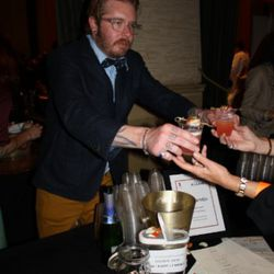 Daniel Hyatt, Alembic bar manager, doles out the goods.