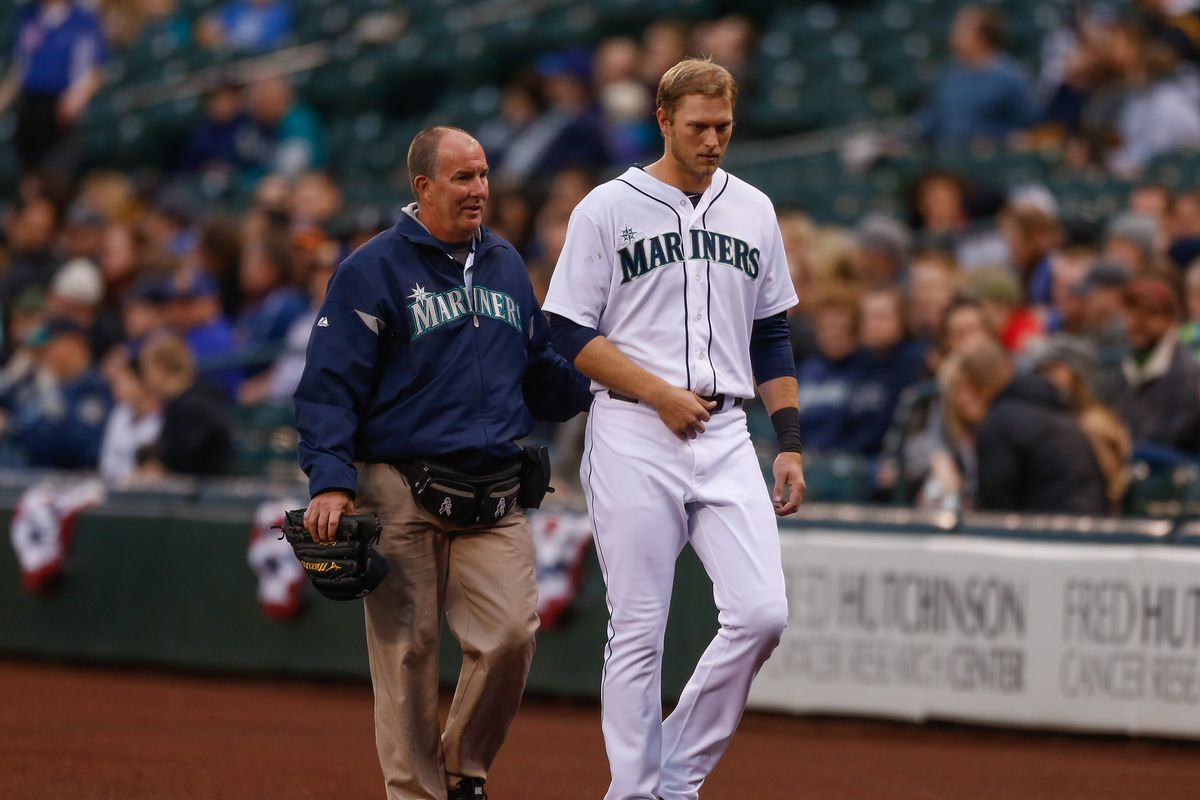 Michael Saunders has been placed on the 15-day disabled list.