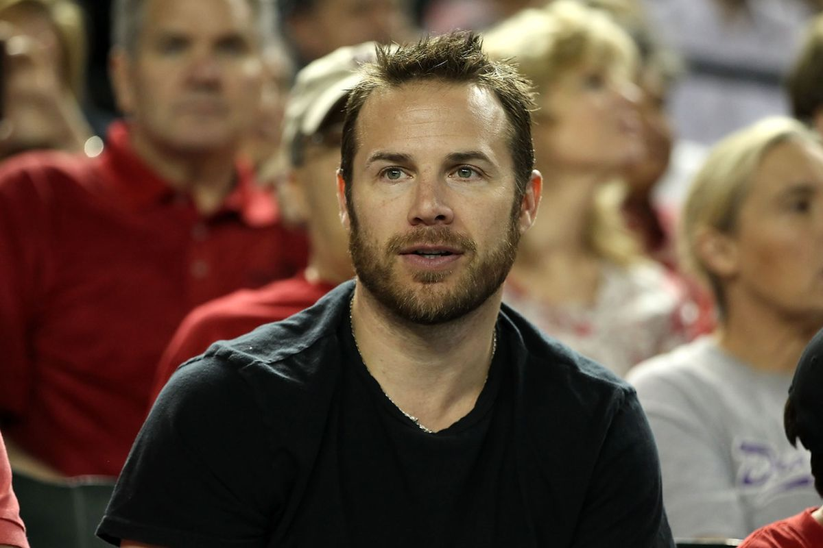 PHOENIX, AZ - MAY 09:  Ray Whitney of the Phoenix Coyotes attends the MLB game between the St Louis Cardinals and the Arizona Diamondbacks at Chase Field on May 9, 2012 in Phoenix, Arizona.  (Photo by Christian Petersen/Getty Images)