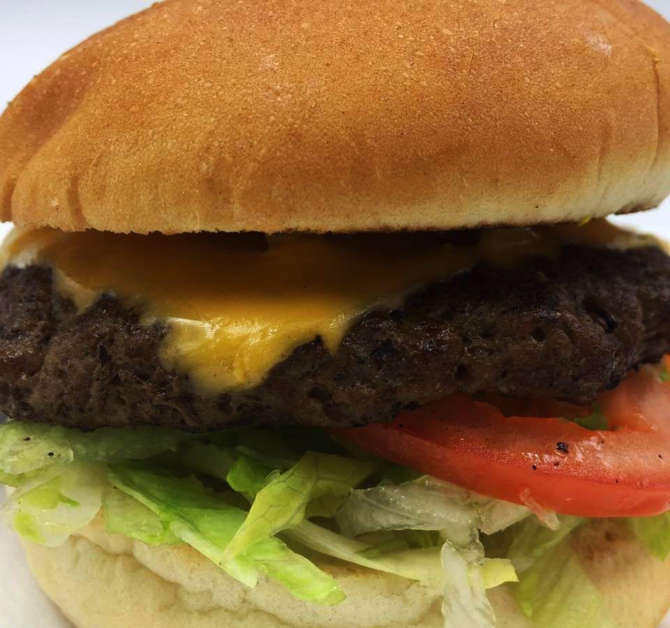 The Super Hut burger available for pickup at the Hamburger Hut in North Las Vegas.