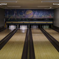 The bowling lanes at Southport Lanes in Lake View.